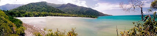The beautiful setting at Cape Tribulation