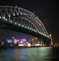 Sydney's Harbour Bridge at night