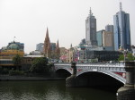 Yarra River with Melbourne  skyline