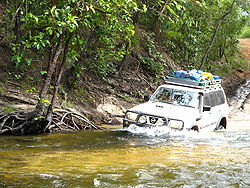 Water crossings can be hazardous, check before driving in!